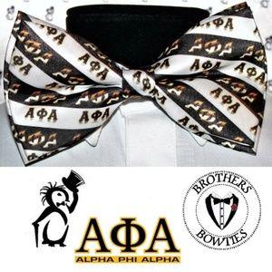 Alpha Phi Alpha pre-tiedbowtie, New! Men's Bow tie